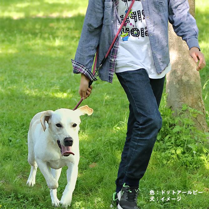 【中・大型犬用リード】フリースタイル丸リード 写真