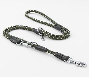 【中・大型犬用リード】フリースタイル丸リード 「Y8 ドットモスグリーン」の写真