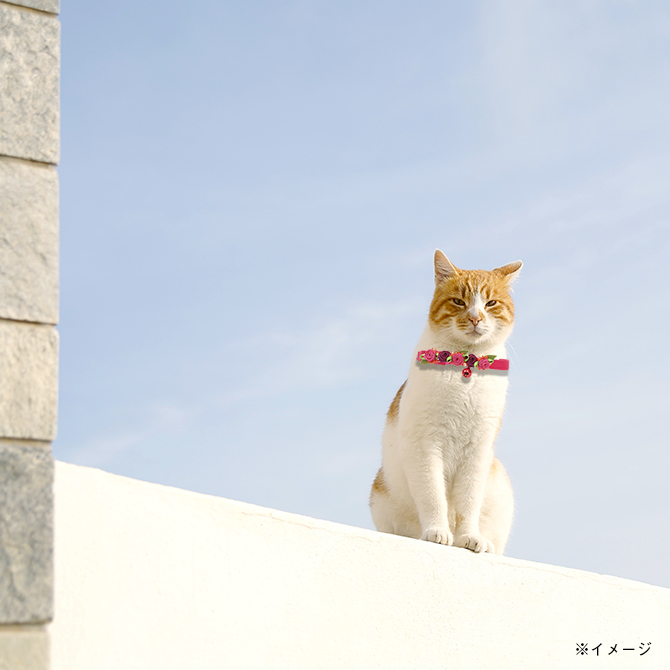猫の首輪 ラロック ローズキャットカラー 3S・2Sサイズ イメージ写真2